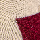Natural- Burgundy Unisex Cute Alpaca Socks