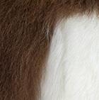 "Brown-White Baby Alpaca Fur - Owl Ornament 9"""