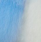 "Light Blue-White Baby Alpaca Fur - Owl Ornament 9"""