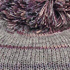 Lt. Grey Brushed Striped Alpaca Hat