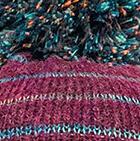 Plum Mlge. Brushed Striped Alpaca Hat