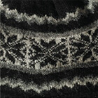 Black-Charcoal Nordic Brushed Alpaca Hat