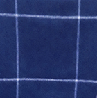 Dk. Navy-Natural Woven & Brushed Plaid Baby Alpaca Throw