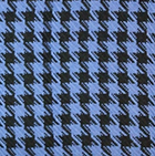 Periwinkle-Black Woven & Brushed Houndstooth Baby Alpaca Scarf