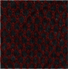 Black-Red Honeycomb Baby Alpaca Fingerless Gloves Long