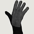 Black-Grey Alpaca Double Layer Driving Gloves