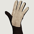 Brown Mlge.-Beige Alpaca Double Layer Driving Gloves