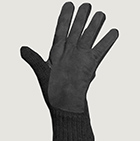 Charcoal-Grey Alpaca Double Layer Driving Gloves